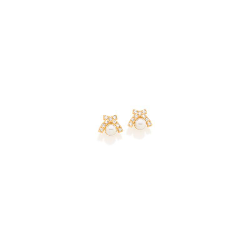 07cda9411c543 Joias - Brincos Infantil Pérola Folheado a Ouro 18k – Rommanel